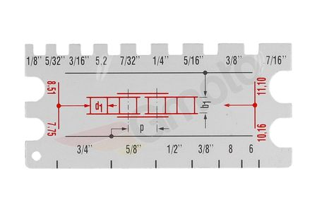 Przyrząd do odczytu rozmiaru łańcucha JMP