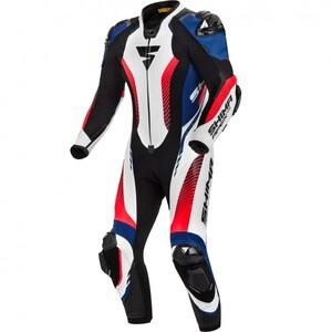 Kombinezon skórzany Shima Apex RS biało czarno niebiesko czerwony 58
