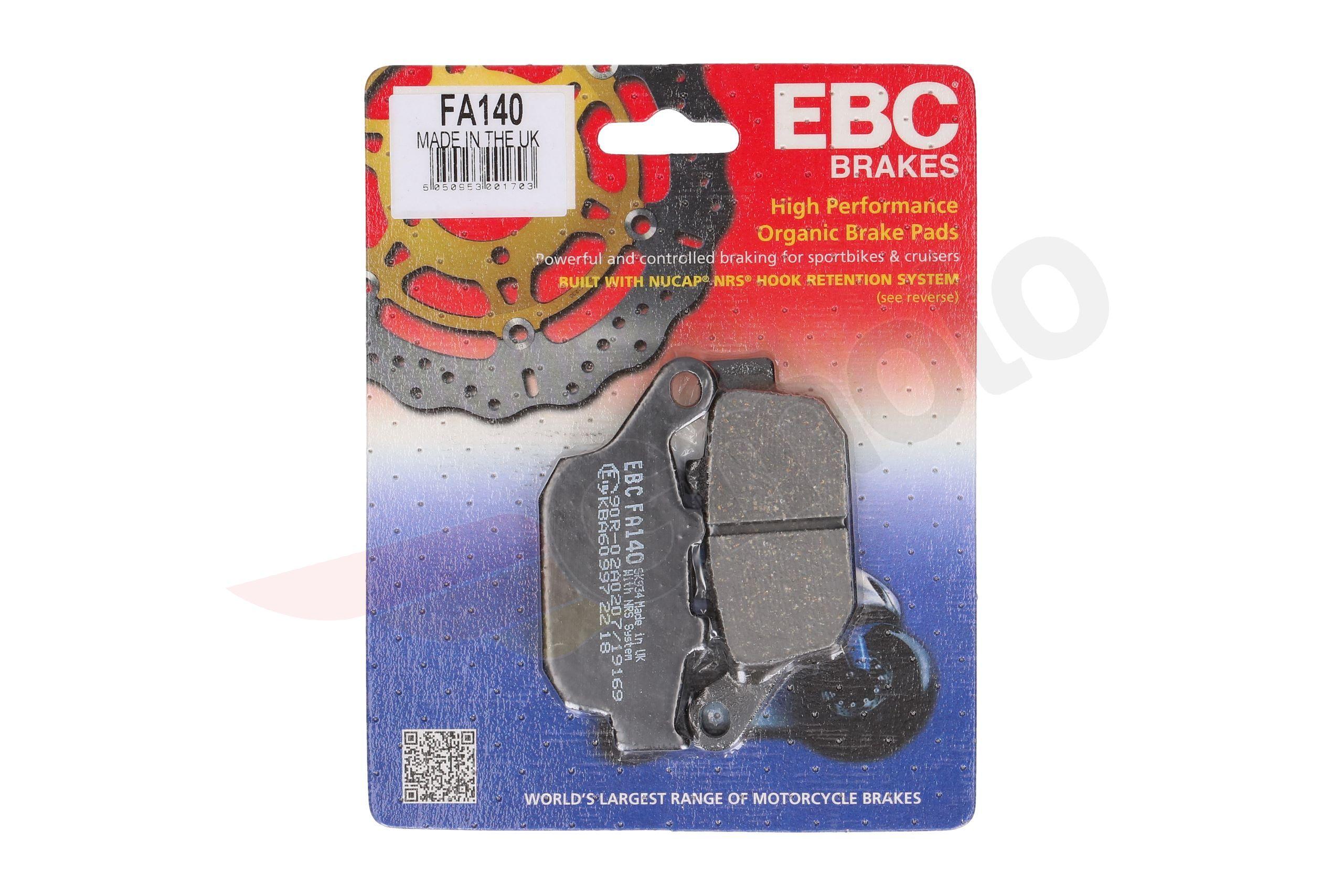 EBC Organic Rear Brake Pads For Kawasaki 2014 Z800 FA140