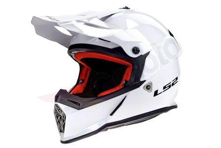 Kask enduro LS2 MX437 FAST EVO SOLID WHITE XS